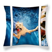Dog Underwater Series Throw Pillow