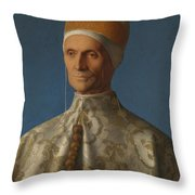 Doge Leonardo Loredan Throw Pillow