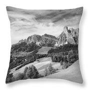 Dolomiti, Landscape Throw Pillow