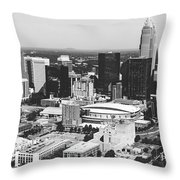 Downtown Charlotte Throw Pillow