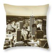 Downtown Indianapolis Throw Pillow