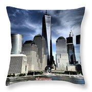 Dramatic New York City Throw Pillow