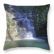 Dripping Springs Falls Throw Pillow