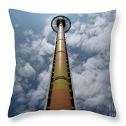 Drop Tower Throw Pillow