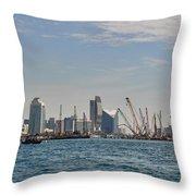 Dubai Creek And Abra Boats Throw Pillow