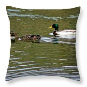 2 Ducks Throw Pillow