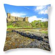 Dunvegan Castle Landscape Throw Pillow
