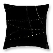 Dynamic And Bright Linear Sphere With Colorful Gradient Throw Pillow