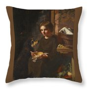 Early Breakfast Throw Pillow