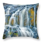 Early Morning At The Upper Falls Throw Pillow