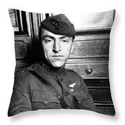 Eddie Rickenbacker Throw Pillow by War Is Hell Store