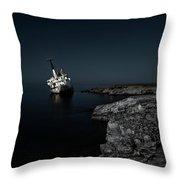 Edro IIi Shipwreck - Cyprus Throw Pillow