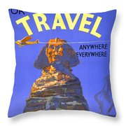Egypt Vintage Travel Poster Restored Throw Pillow
