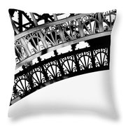 Eiffel Tower Detail Throw Pillow