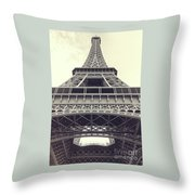 Eiffel Tower By The Seine Throw Pillow