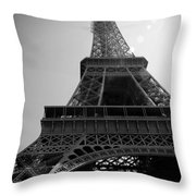 Eiffel Tower Under The Spotlight Throw Pillow