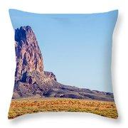 El Capitan Peak Just North Of Kayenta Arizona In Monument Valley Throw Pillow
