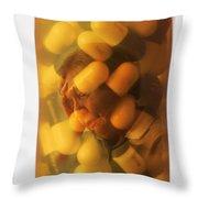 Elderly Drug Use Throw Pillow