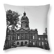 Elkhart County Courthouse - Goshen, Indiana Throw Pillow