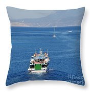 Emborio Harbour On Halki Throw Pillow