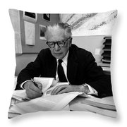 Emilio Segr�, Italian-american Physicist Throw Pillow
