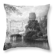 England: Warwick Castle Throw Pillow
