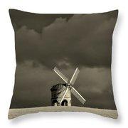 English Windmill Throw Pillow