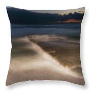 Genova Wavescape - Onde Sul Molo Con Faro Throw Pillow