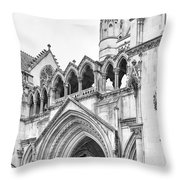 Entrance To Royal Courts Of Justice London Throw Pillow