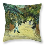 Entrance To The Public Gardens In Arle Throw Pillow