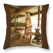 Everglades Cowgirl Throw Pillow