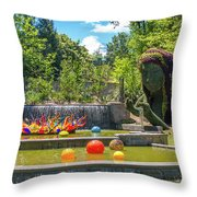 Chihuly Exhibition In The Atlanta Botanical Garden. #02 Throw Pillow