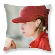 Extreme Sports Ropejumping Throw Pillow