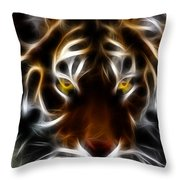 Eye Of The Tiger Throw Pillow by Wingsdomain Art and Photography