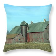 Fading Red Throw Pillow