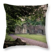Fairafar Mill, Cramond, Edinburgh Throw Pillow