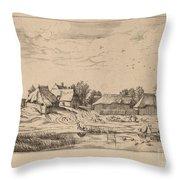 Farms Throw Pillow