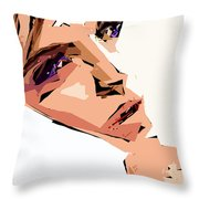 Female Expressions Xii Throw Pillow