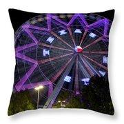 Ferris Wheel At The Texas State Fair In Dallas Tx Throw Pillow