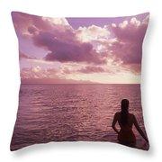 Fiji, Wakaya Island Throw Pillow