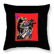 Film Homage Clark Gable Myrna Loy Too Hot To Handle 1938 Toning Color Added 2008 Throw Pillow