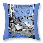 Film Homage Esther Williams Skirts Ahoy 1952 St. Patrick's Day Party Tucson Arizona 1985-2012 Throw Pillow