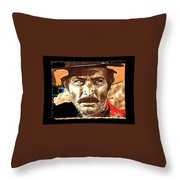 Film Homage Lee Van Cleef Spaghetti Westerns Publicity Photo Collage 1966-2008 Throw Pillow
