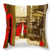 Film Noir William H. Macy Steve Buscemi Fargo 1996 Cheerio Bar Aberdeen South Dakota 1965-2008 Throw Pillow