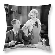 Film Still: Eating & Drinking Throw Pillow