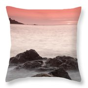 Fine Art- St Ives At Sunset By Phill Potter Throw Pillow