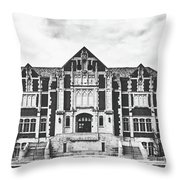 Fine Arts Building - Ball State University Throw Pillow