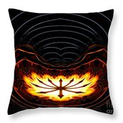 Fire Polar Coordinates Effect Throw Pillow