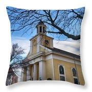 First Parish Church Beverly Ma Throw Pillow