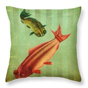 2 Fish Throw Pillow